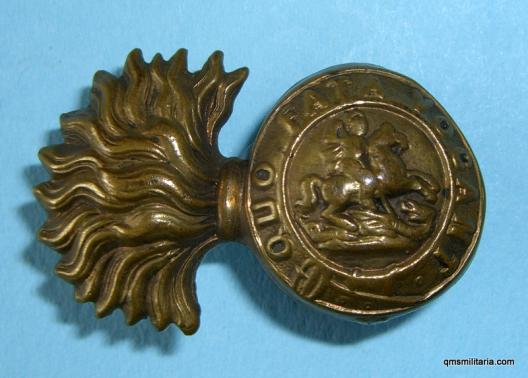 Northumberland Fusiliers Early Other Rank's Right Facing Collar Badge