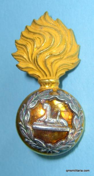 Lancashire Fusiliers Territorial Battalion Officers Collar - blank plinth under Sphinx