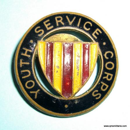 Northumberland Youth Service Corps Enamel, Painted and Brass Lapel Badge