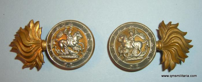 Facing Pair of Royal Northumberland Fusiliers ( RNF ) Other Rank's Collar Badges