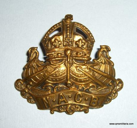 WW1  Navy & Army Canteen Board ( NACB ) Kings Crown Cap Badge