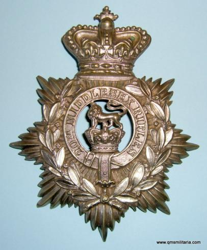 20th Middlesex ( Euston Square ) Rifle Volunteer Corps OR's helmet plate circa 1878-80 - The Railway Rifles
