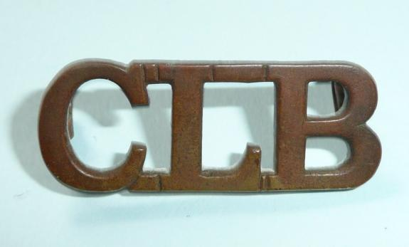 CLB Church Lads Brigade Cadet Brass Shoulder Title