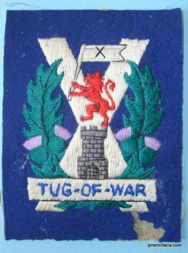 Scarce Tyneside Scottish ( NF / DLI / Black Watch. Royal Artillery ) Tug of War Team Embroidered Sports Singlet Badge