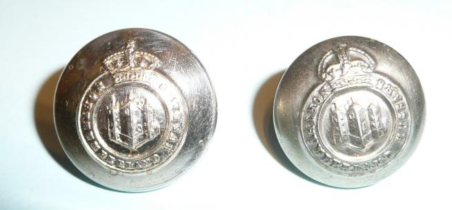 Northumberland Hussars Yeomanry Officers Medium Pattern Buttons (2 patterns)