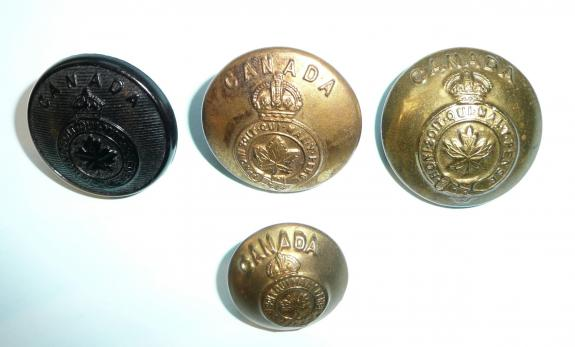 Set of 4 Different Types of Canadian General Service Buttons