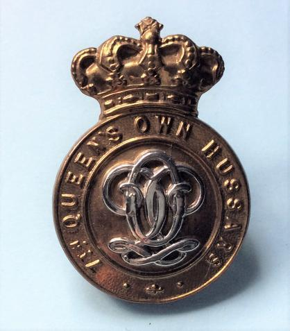 Victorian 7th Queens Own Hussars Other Ranks Bi-Metal Cap Badge