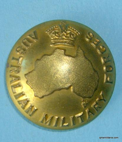 Australian Military Forces Large Gilt Officers Button