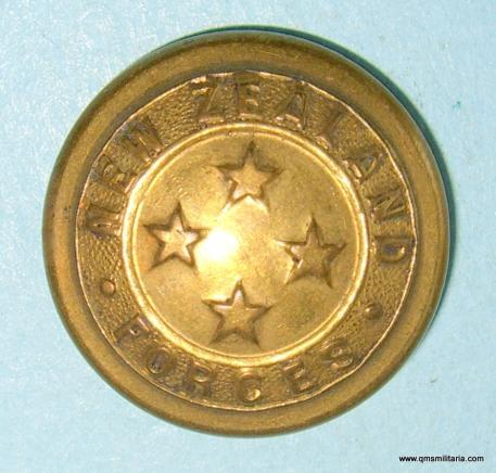 New Zealand Forces General Pattern ( Volunteers ) Gilt Brass Button, 1911 onwards