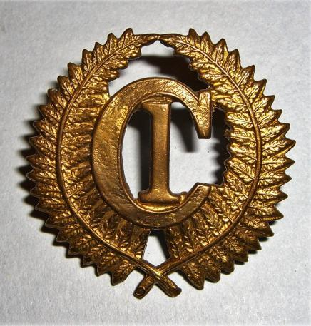 WW1 New Zealand Expeditionary Force - C1 Camp Brass Cap Badge
