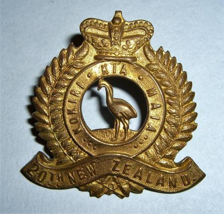 WW1 New Zealand Expeditionary Force - 20th Reinforcements Cap Badge
