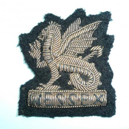 Wessex Brigade Officers Gold Bullion Embroidered Beret Badge