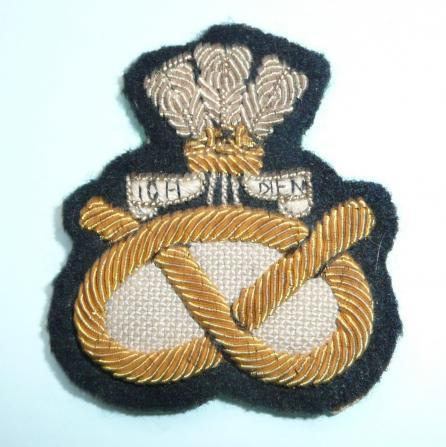 The Staffordshire Regiment (Prince of Wales's) Officers Embroidered Bullion Beret Badge, Holland Patch