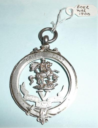 Boer War 5th Northumberland Fusiliers Silver Hallmarked Watch Fob Sweetheart OCA Badge