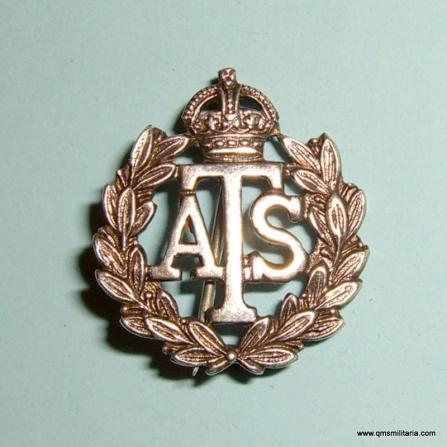 WW2 Home Front Auxiliary Territorial Service ATS Official Issue ( Mufti ) Numbered Silver Badge