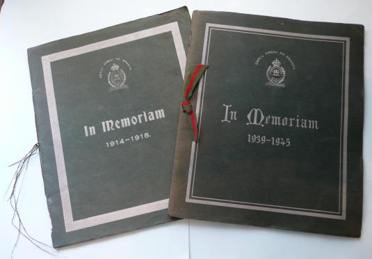 A Set of Monmouthshire Regiment 'In Memorium' Booklets for WW1 and WW2