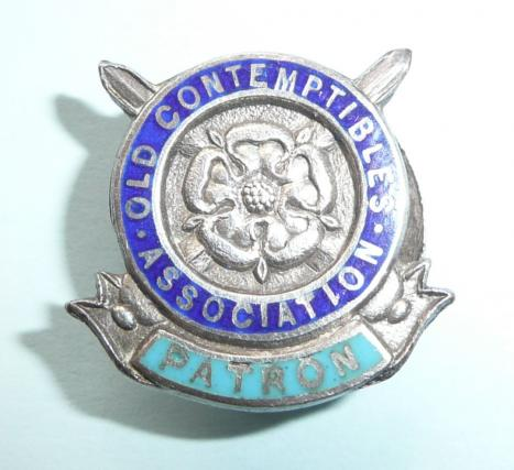 1914 Mons Star Old Contemptibles Association Patron Enamel and Hallmarked Silver Lapel Badge