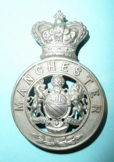 QVC Manchester Regiment Militia Other Ranks White Metal Glengarry Badge