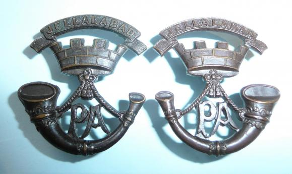 Somerset Light Infantry ( Prince Alberts) Pair of Facing Officers OSD Collar Badges - one maker marked Gaunt London