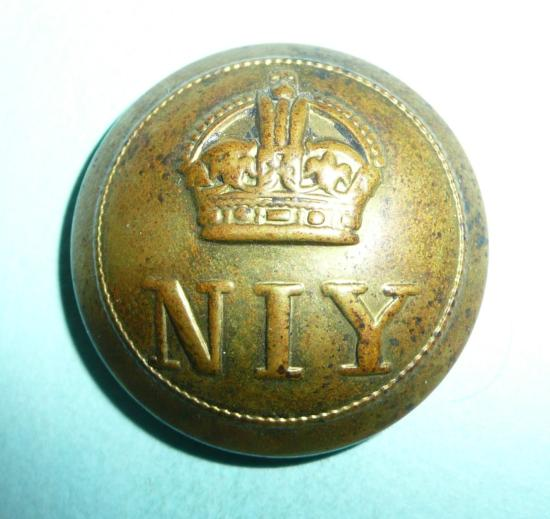 Northamptonshire Imperial Yeomanry (NIY) Officers Large Pattern Gilt Brass Button
