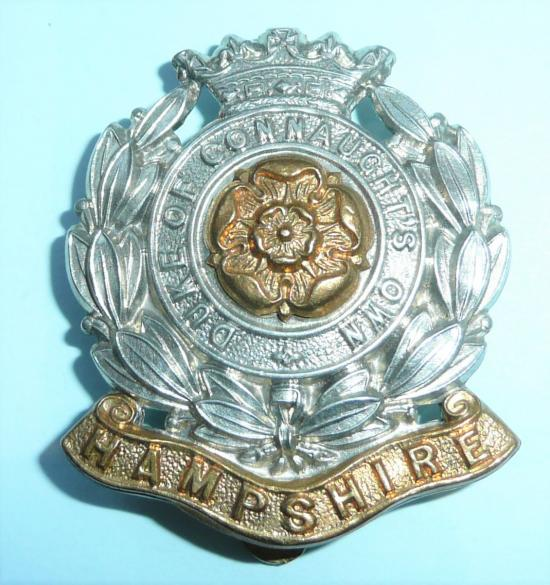 6th (Territorial Battalion) The Hampshire Regiment (Duke of Connaughts Own) Other Ranks Bi-Metal Cap Badge