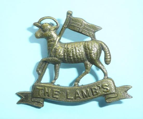 WW1 - The Light Armoured Motor Battery Lamb ( LAMBS ) Rare Brass Shoulder Title